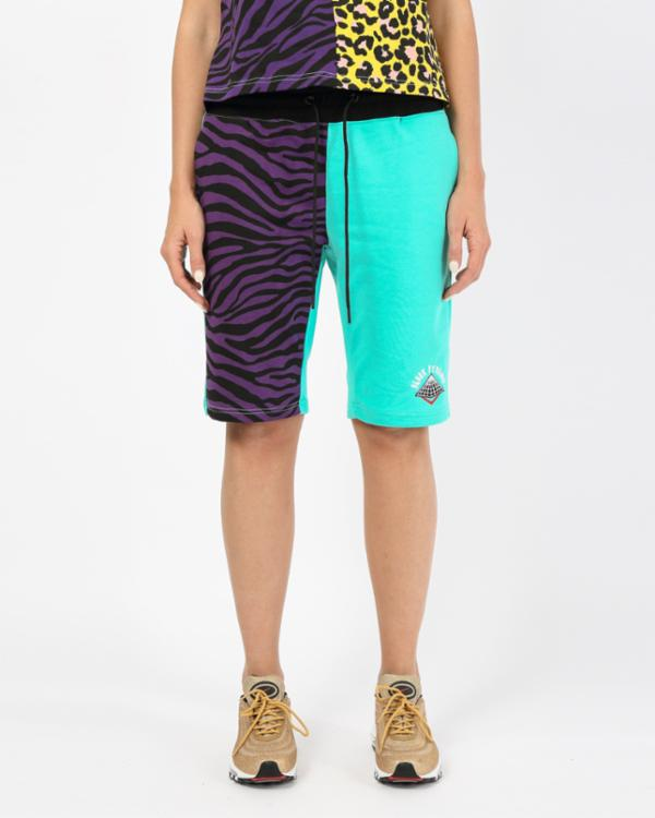 WOMEN ANIMAL MASH UP SHORT-COLOR: PURPLE