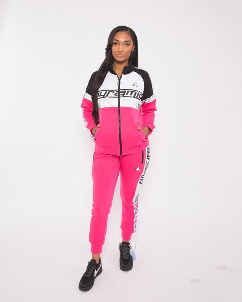 WOMEN LOGO TAPE TRACK JACKET-COLOR: PINK