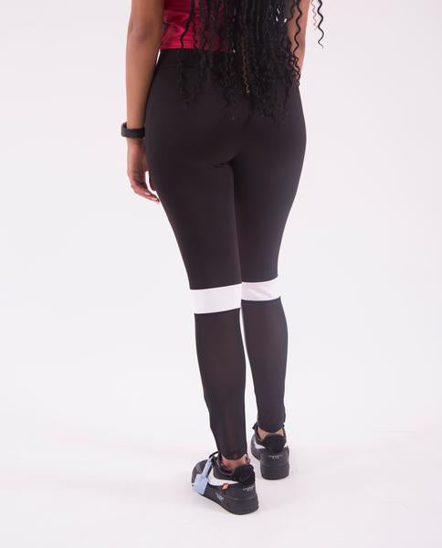 WOMENS BLK PMD BLOCK LEGGINGS-COLOR: BLACK