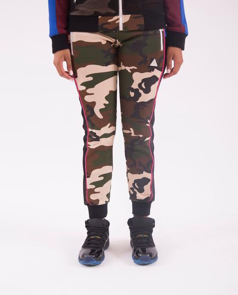 WOMENS COLOR POP CAMO JOGGERS-COLOR: CAMO