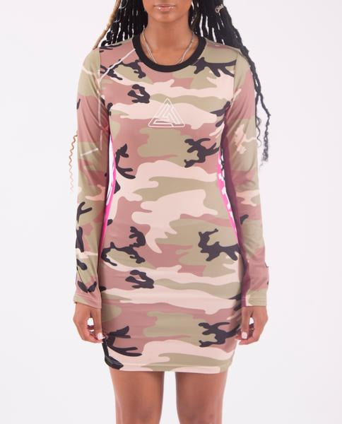 WOMENS COLOR POP CAMO DRESS