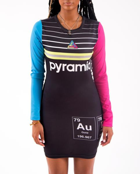 WOMENS PYRAMID ELEMENTS DRESS