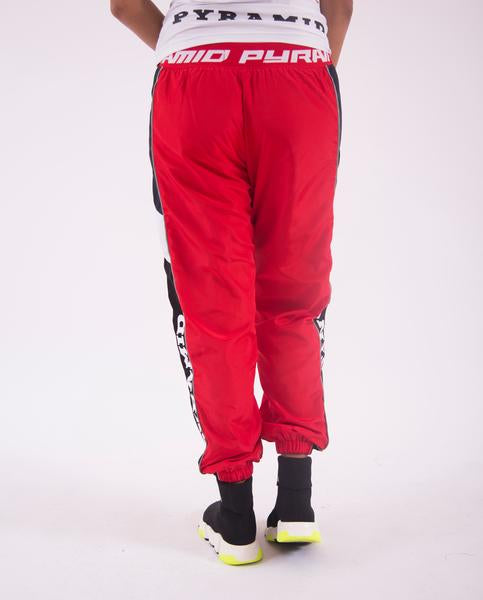 WOMEN RACEWAY SWISH PANT-COLOR: RED