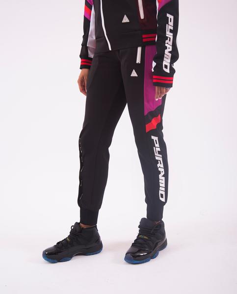 WOMEN SPORT STRIPE JOGGER-COLOR: BLACK