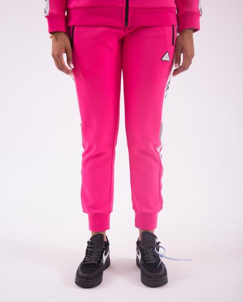 WOMEN LOGO TAPE TRACK PANT-COLOR: PINK