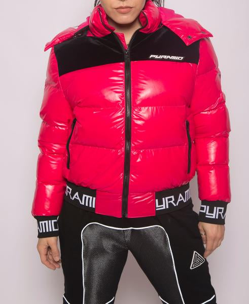 WOMENS BP LOGO BUBBLE PUFFER-COLOR: PINK