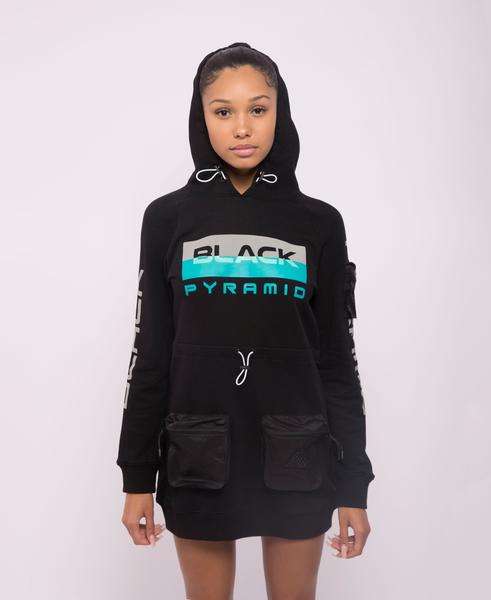 WOMENS TACTICAL HOODIE DRESS-COLOR: BLACK