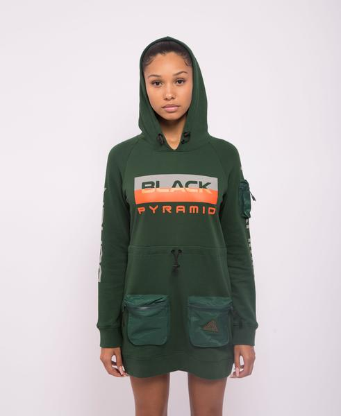 WOMENS TACTICAL HOODIE DRESS-COLOR: OLIVE