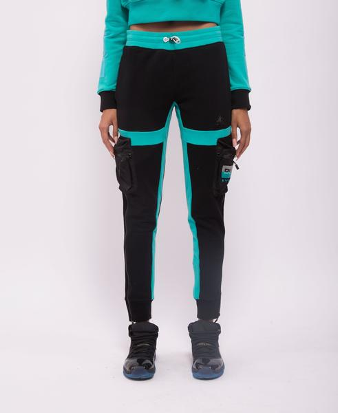 WOMENS TACTICAL CONTRAST POP JOGGERS-COLOR: BLACK