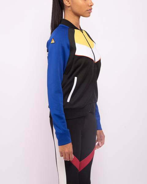 WOMENS MOTORCROSS COLOR BLOCKED TRACK JACKET-COLOR: BLUE