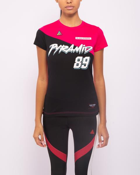 WOMENS MOTORCROSS MIXED FABRIC TOP-COLOR: PINK