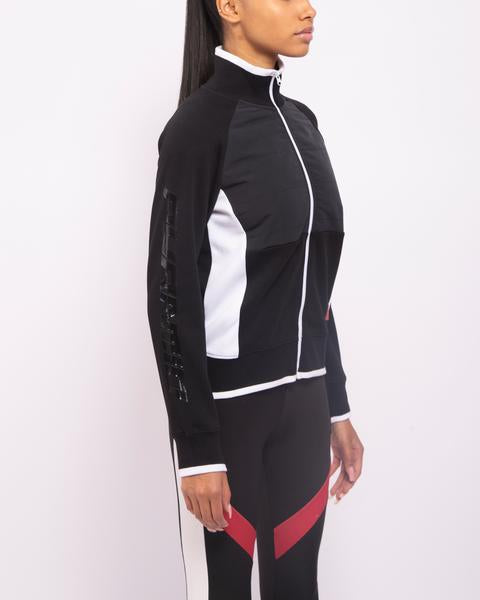 WOMENS BP PADDED MIX TRACK JACKET-COLOR: BLACK