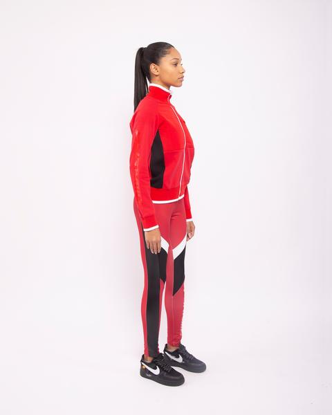 WOMENS BP PADDED MIX TRACK JACKET-COLOR: RED