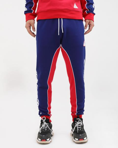 The RED PYRMD SU JOGGERS-COLOR: RED