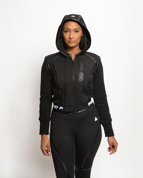Womens Taped Seam BPX Sport Hoodie-COLOR: BLACK