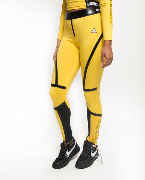 Womens Taped Seam BPX Leggins-COLOR: YELLOW