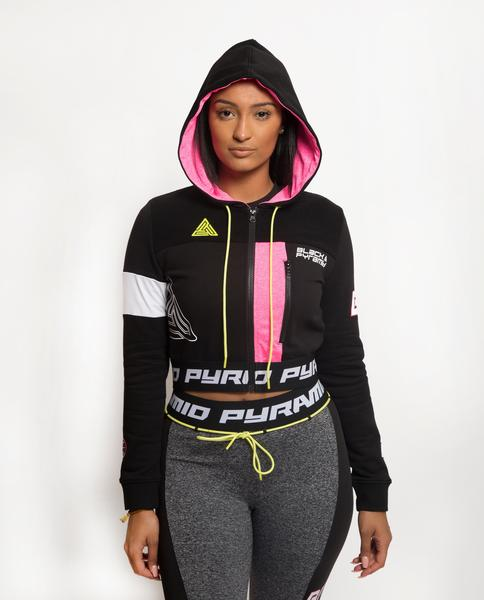WOMENS PYRAMID STATIC BLOCKED HOODIE