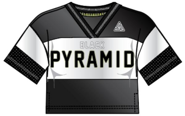 WOMENS PYRAMID SPORTIF JERSEY TOP-COLOR: BLACK