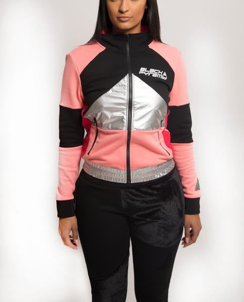 WOMENS CYBER SPACE TRACK JACKET-COLOR: PINK