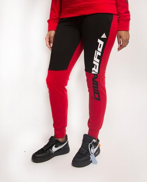 WOMENS SPLIT LOGO CORE JOGGER-COLOR: RED