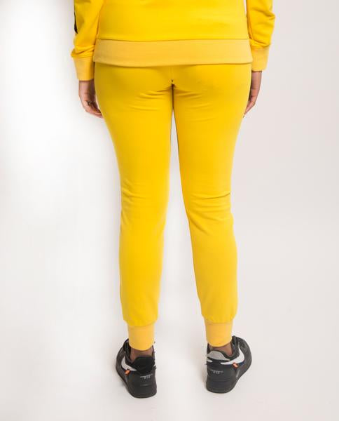 WOMENS SPLIT LOGO CORE JOGGER-COLOR: YELLOW