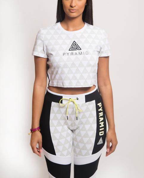 WOMENS PYRAMID SPORTIF TEE-COLOR: WHITE