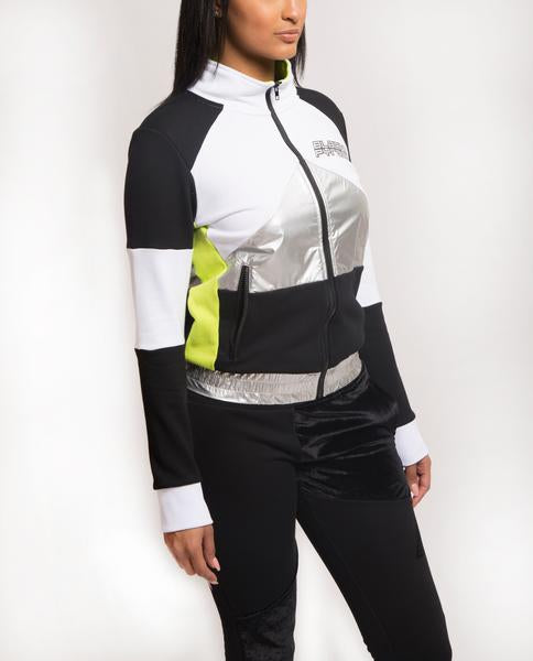 WOMENS CYBER SPACE TRACK JACKET-COLOR: WHITE