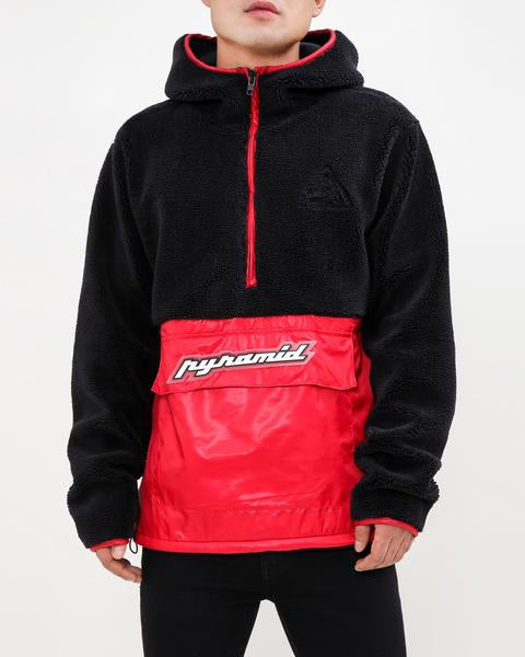 Pullover Mixed Nylon Hoody