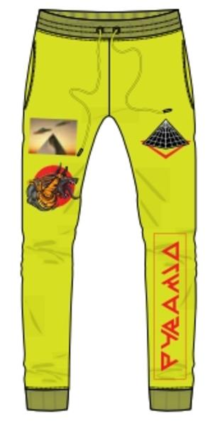 ANCIENT WORLD PANT-COLOR: VOLT
