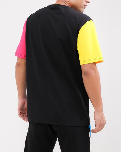 LOGO SPLITS SHIRT-COLOR: BLACK