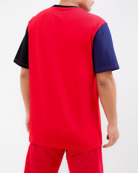 LOGO SPLITS SHIRT-COLOR: RED