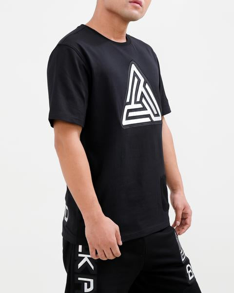 IRIDESCENT LOGO SHIRT-COLOR: BLACK