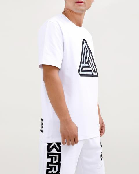 IRIDESCENT LOGO SHIRT-COLOR: WHITE