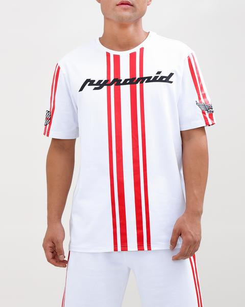 STRIPED RACE CREW SHIRT