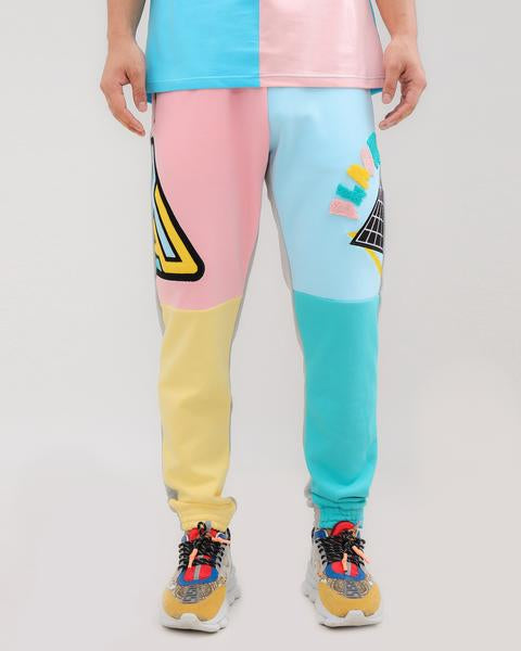 LOGO SPLITS PANT-COLOR: PINK