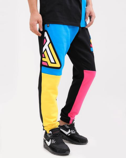 LOGO SPLITS PANT-COLOR: BLACK