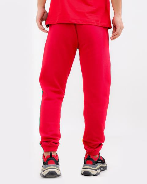 LOGO SPLITS PANT-COLOR: RED