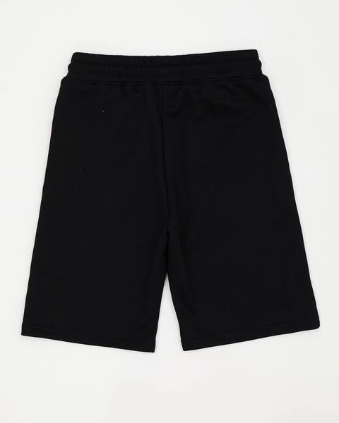 Kids Iridesecnt Logo Shorts-color: black