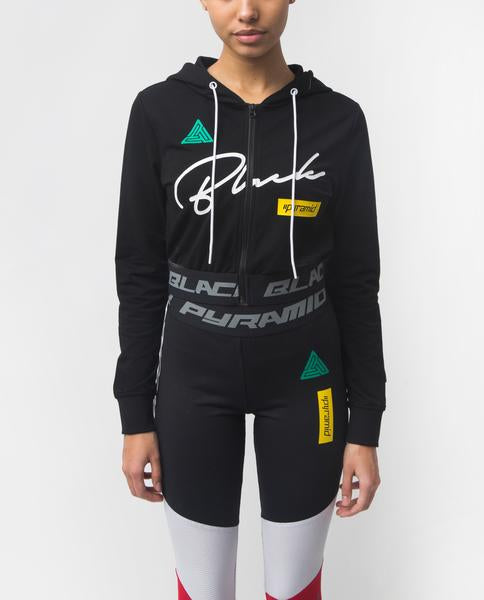 WOMENS GRAND PRIX CROPPED HOODIE
