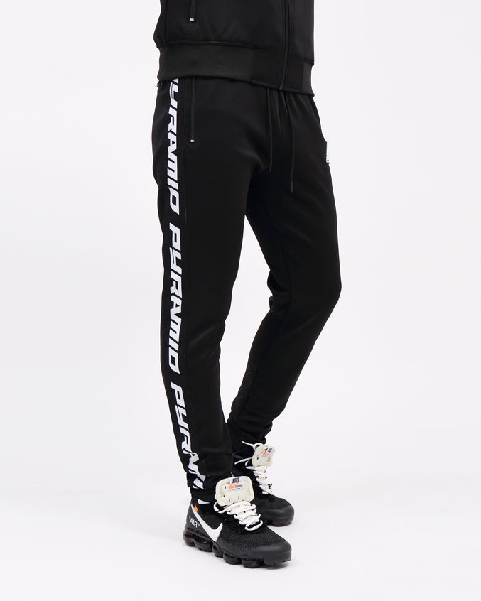 Pyramid Taping Track Pant - Color: Black