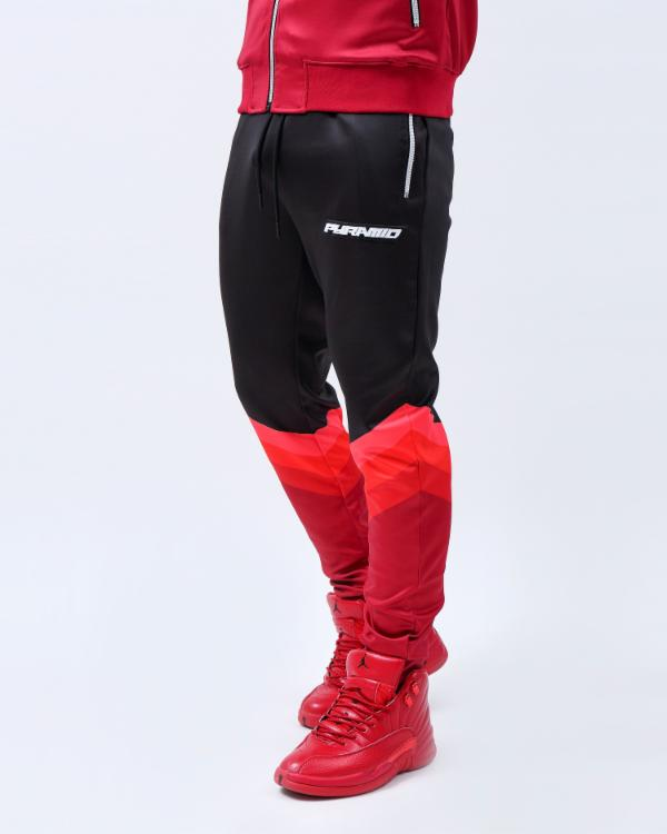 GRADIENT STRIPE JOGGER-COLOR: RED