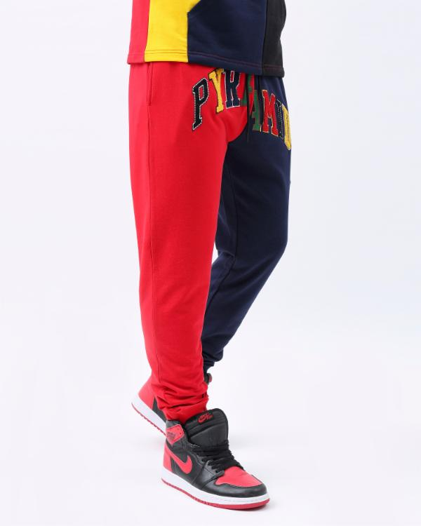 VARSITY SPLIT PANT-COLOR: RED