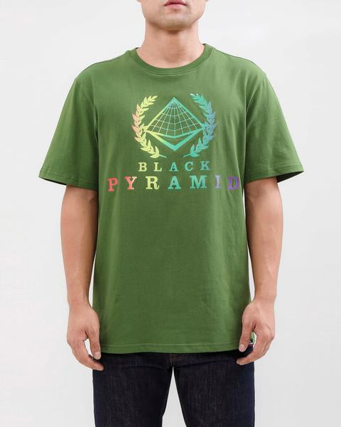 BP CREST RAINBOW TEE-COLOR: OLIVE