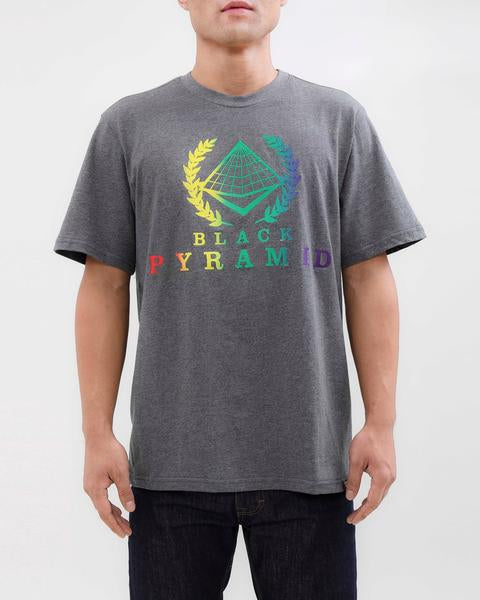 BP CREST RAINBOW TEE-COLOR: HEATHER GRAY