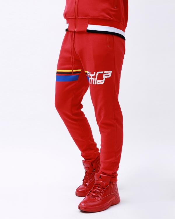 BP FUTURE CLASSIC TRACK PANT-COLOR: RED