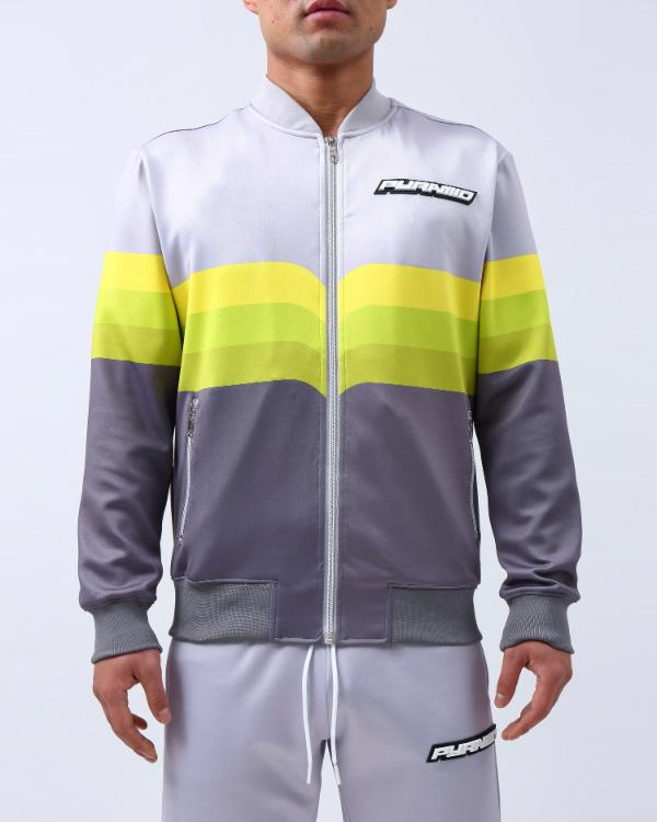 GRADIENT STRIPE BOMBER