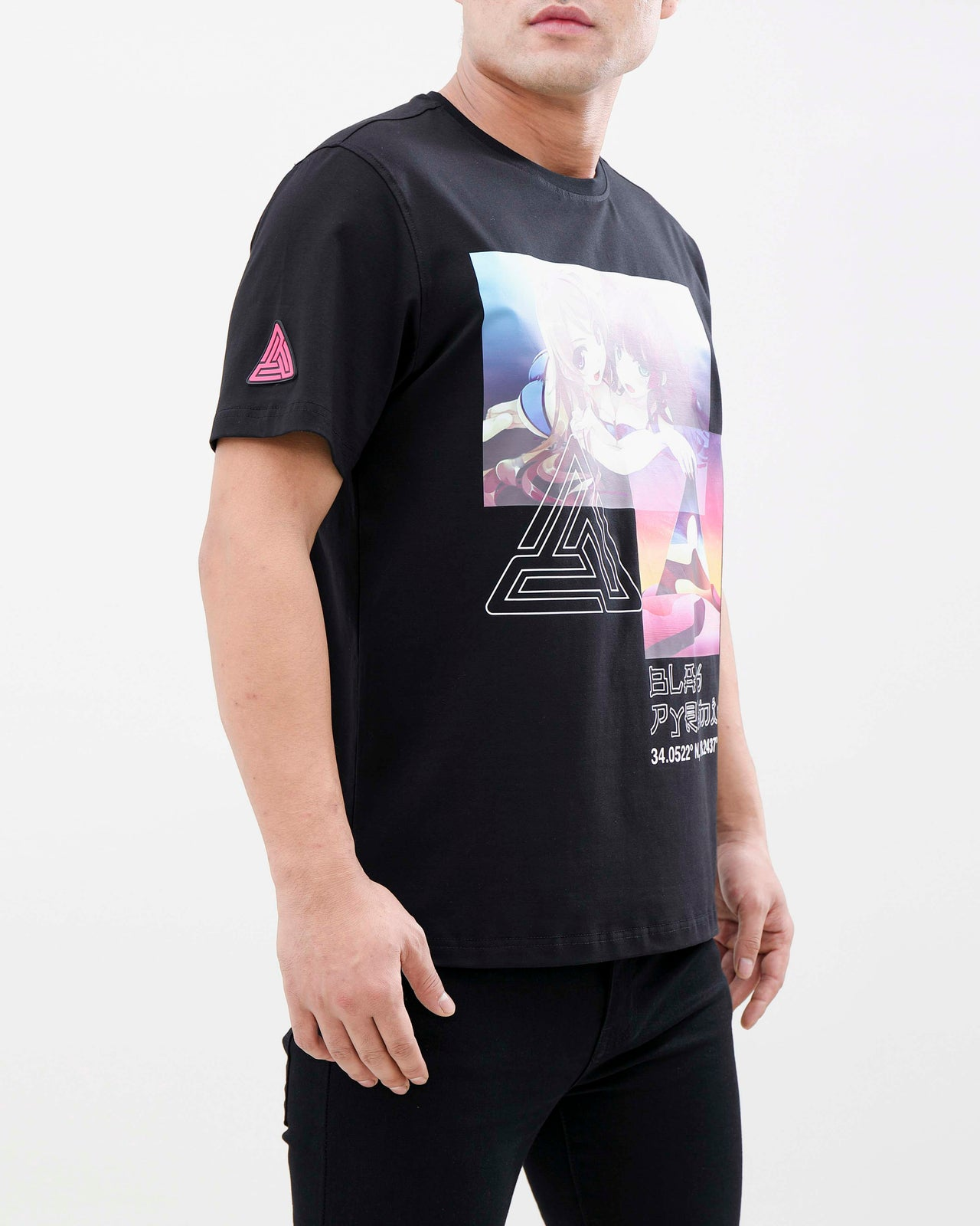 TOUCH THE PYRAMID SHIRT-COLOR: BLACK