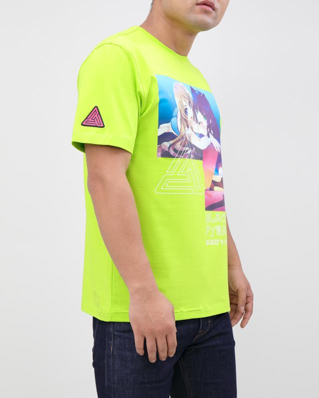 TOUCH THE PYRAMID SHIRT-COLOR: VOLT