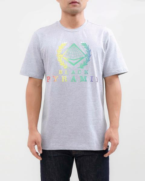BP CREST RAINBOW TEE-COLOR: GRAY