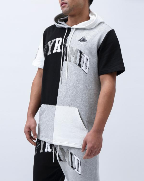 VARSITY SPLIT HOODY-COLOR: BLACK